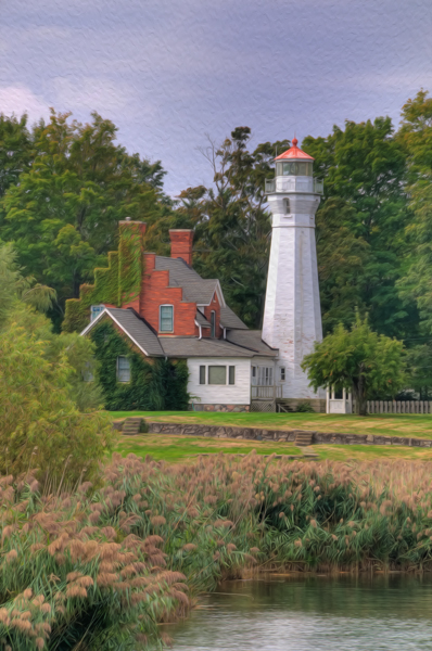 Port Sanilac Lighthouse Oil Paint