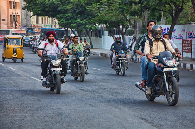 Hyderabad Motorcycle Traffic