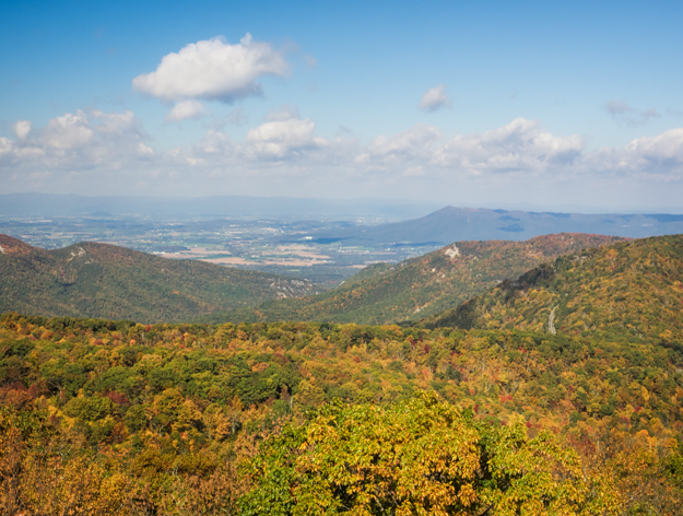 Overlook on Loft Mountain Loop Trail