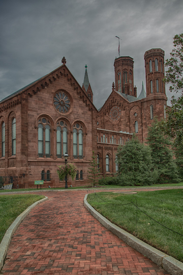 Path to the Smithsonian Castle