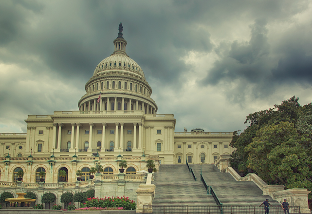 Storm Brewing Over the US Capitol