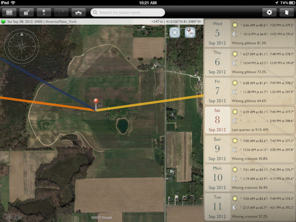 The Photographers Ephemeris App on the New iPad