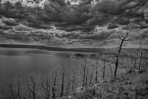 Stormy Skies over Yellowstone Lake