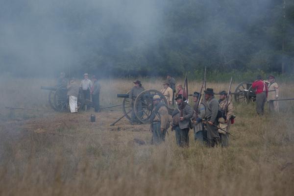 Civil War Reenactment, Smoke on the Battlefield