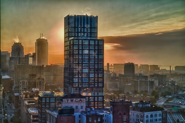 Boston Skyline at Sunrise