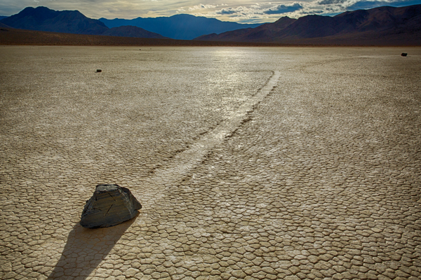 Racetrack Playa Sailing Rocks Trail Death Valley
