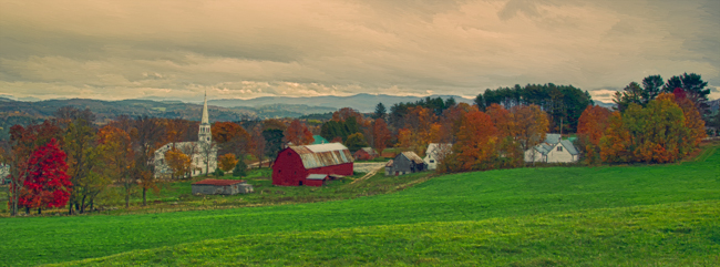 Peacham Vermont AKVIS ArtWork Oil Painting