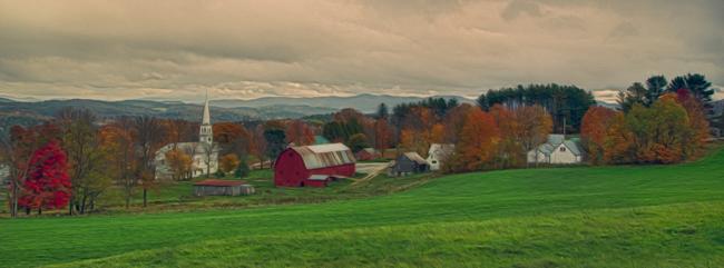Peacham Vermont Photoshop CS6 Oil Painting