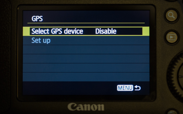 Canon 6d Disable GPS