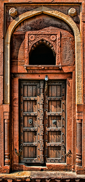 Ornate Door, Agra Fort