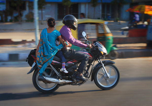 Indian Family on a Motorcycle