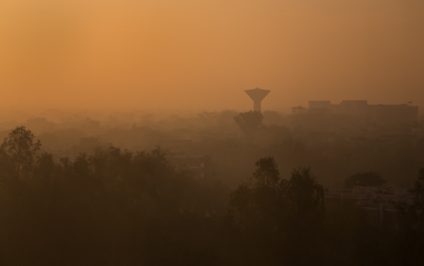 Foggy New Delhi Sunrise