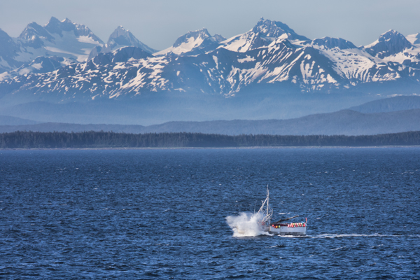Alaskan Fisherman, Rough Seas