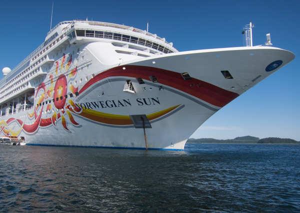Norwegian Sun Anchored at Icy Straight Point