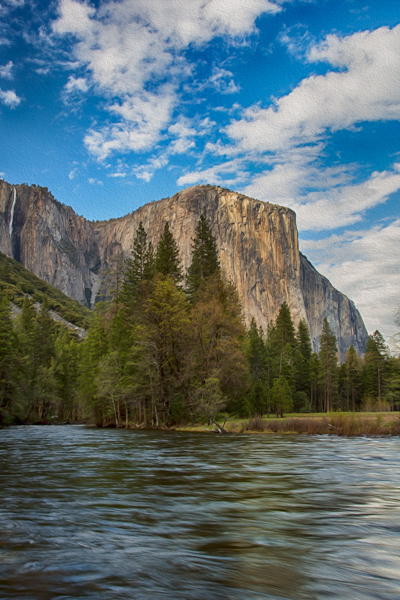 Yosemite, El Capitan Photoshop Oil Paint Filter