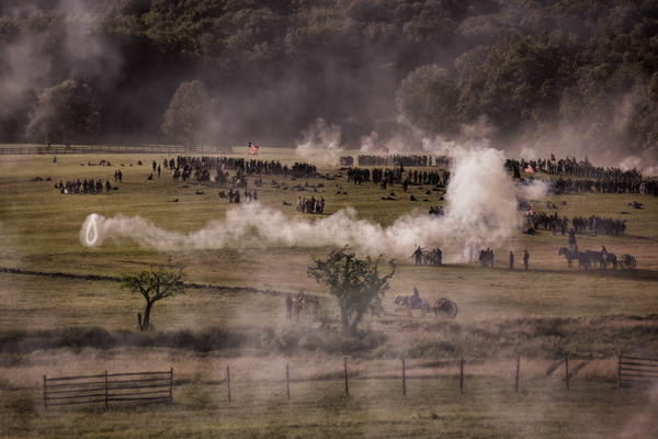 Canon Smoke at the Battle of Gettysburg