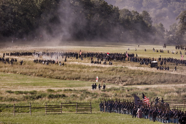 Union Troops Marching to Battle at Gettysburg