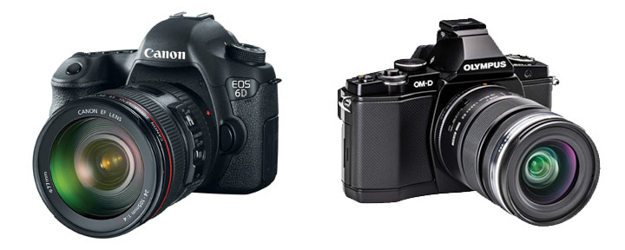 Canon 6d and Olympus OM-D