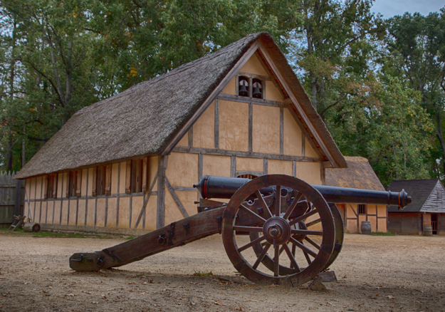 Canon and Church, Jamestown Settlement