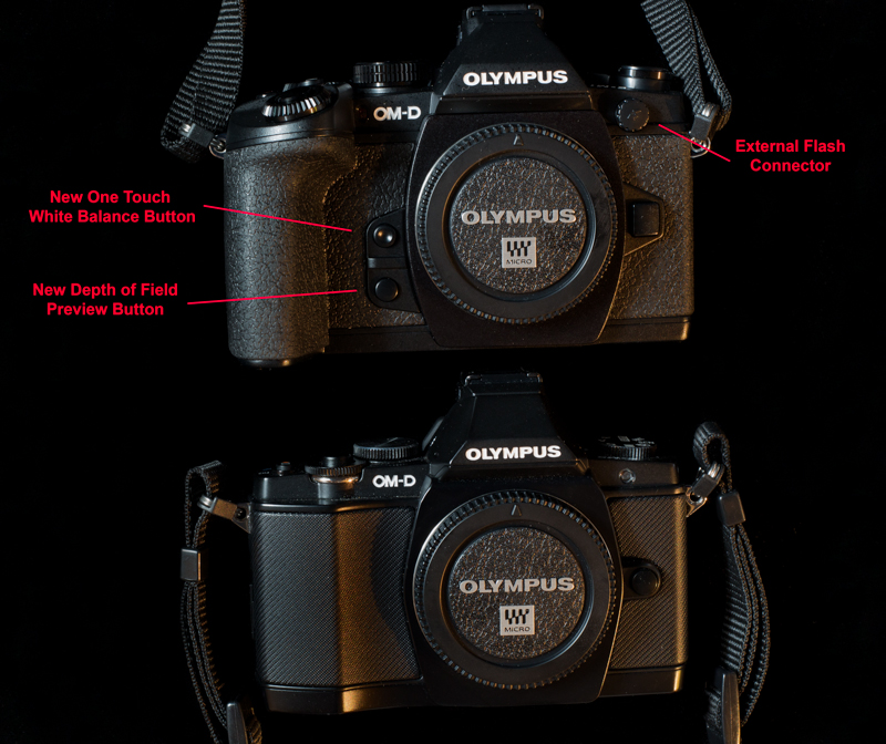 Olympus OM-D Comparison Front View