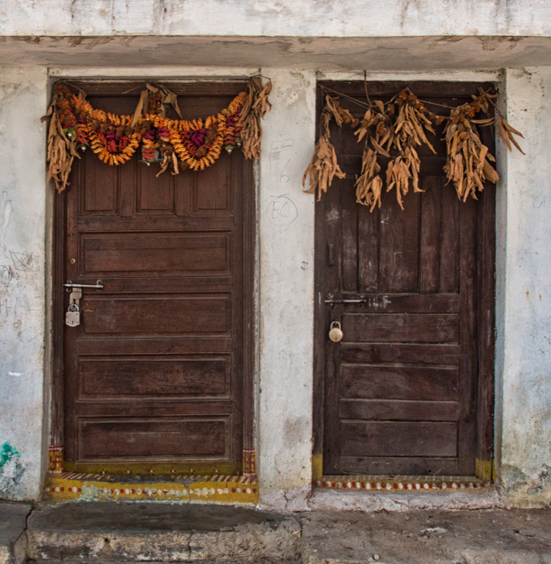 Two Doors with Festoons, Hyderabad, India