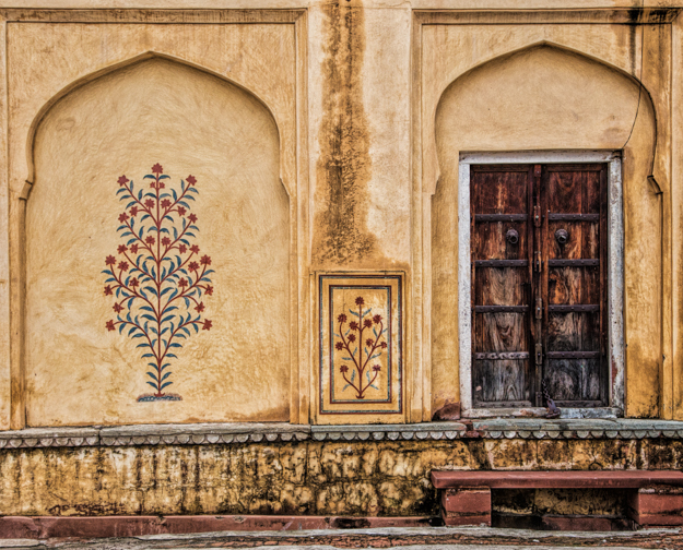 Door and Alcove, Rajasthan, India