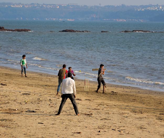 Cricket Match on Bambolim Beach