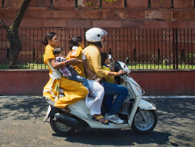 India - 5 on a Scooter