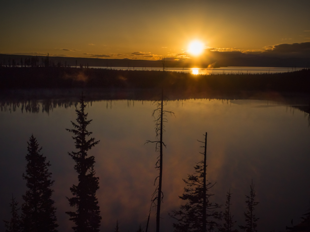 Sunrise Over Duck Lake, Yellowstone National Park