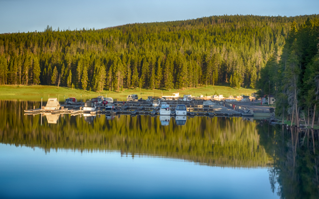 Yellowstone Bridge Bay Marina, Just after Sunrise