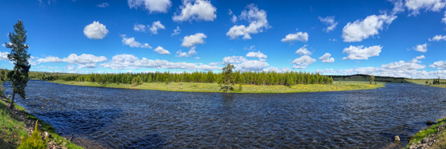 A Bend in the Madison River, iPhone Panorama