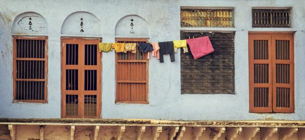 Doors, Windows, and Laundry - Agra India