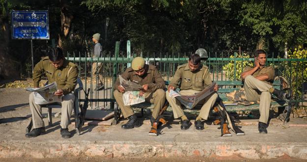 Agra Police Taking a Break