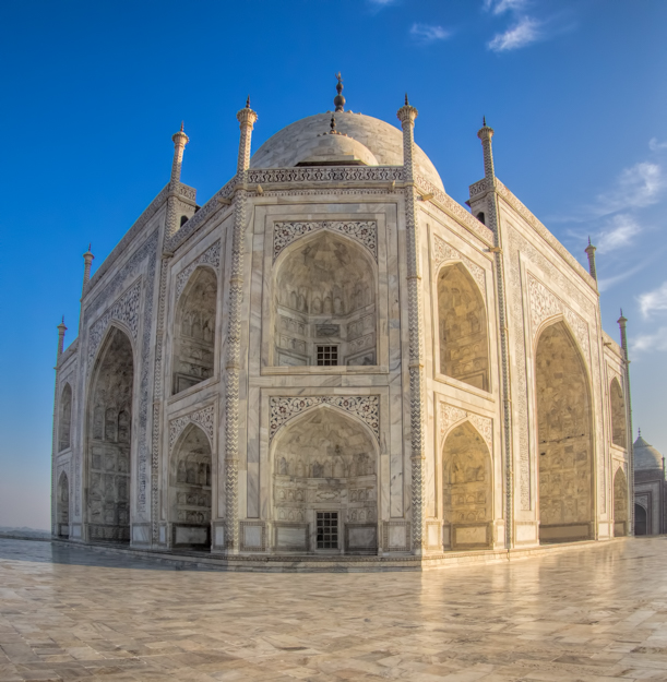 Taj Mahal Wide Angle View
