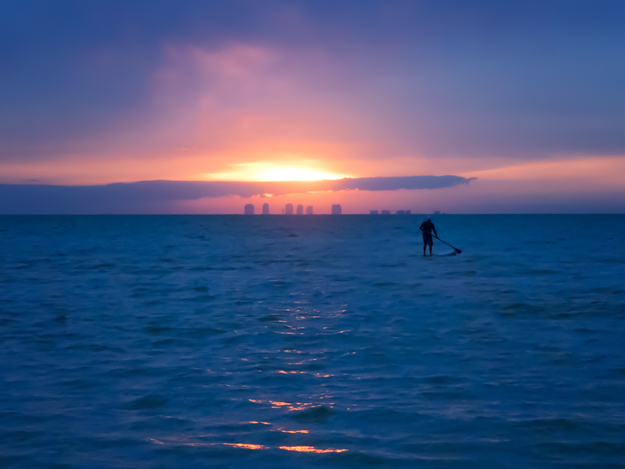 Fort Myers Beach Sunrise from Sanibel Beach