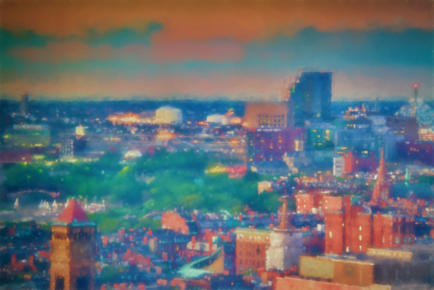 Boston Sunset - Topaz Impression