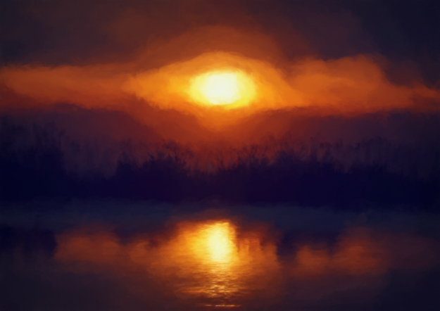 Estero Lagoon Sunset Painting