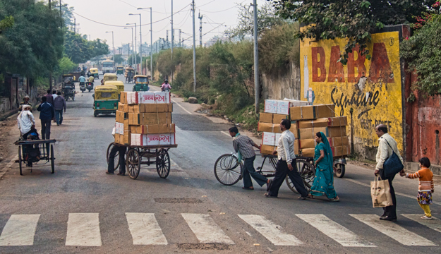 A Busy Street in Agra, India