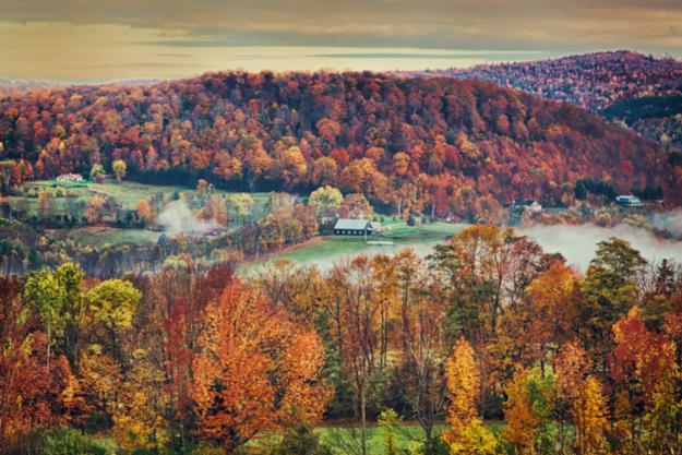 Vermont Autumn Countryside - Painting