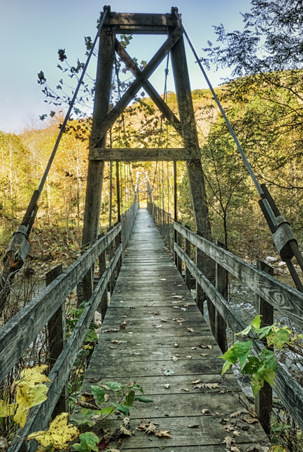 Swinging Bridge, Otter Creek Wilderness Area