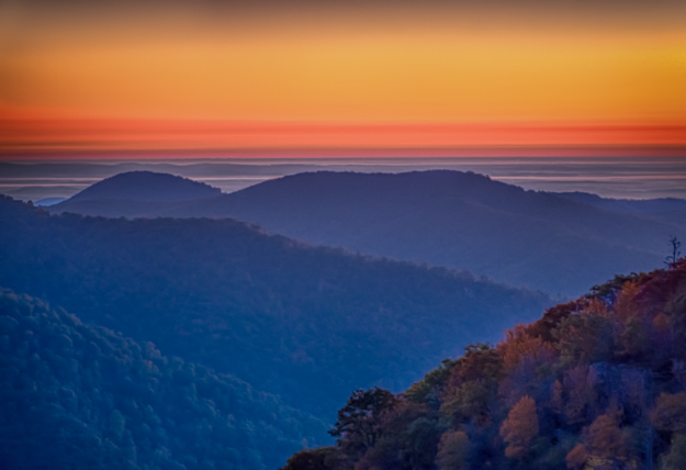 Shenandoah Sunrise from Hemlock Springs Overlook