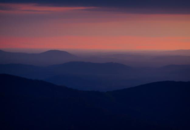 Sunrise at Thorofare Mountain Overlook