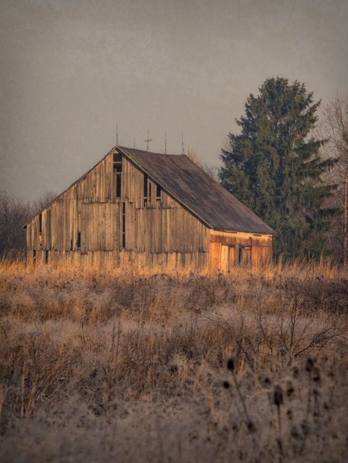 Ohio Barn in the Warn Morning Light