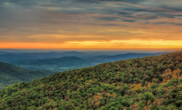 Sunrise at Tunnel Parking Overlook - In Camera HDR