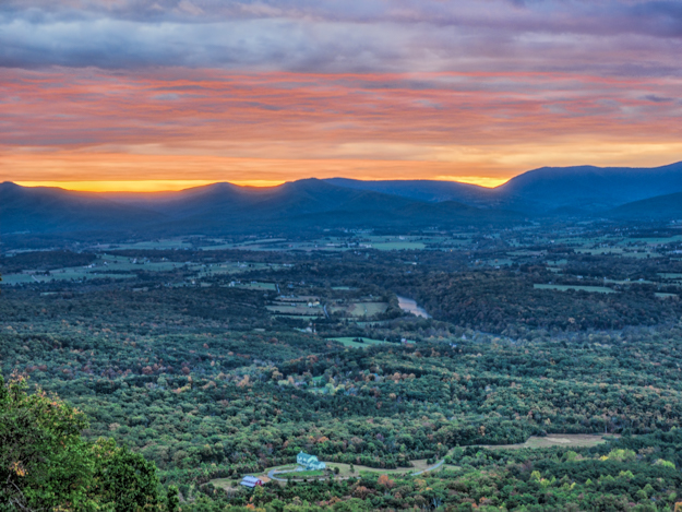 Sunrise over the Shenandoah Valley - In Camera HDR