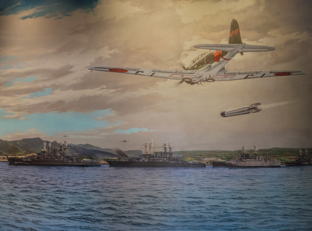 The Bombing of Pearl Harbor Mural