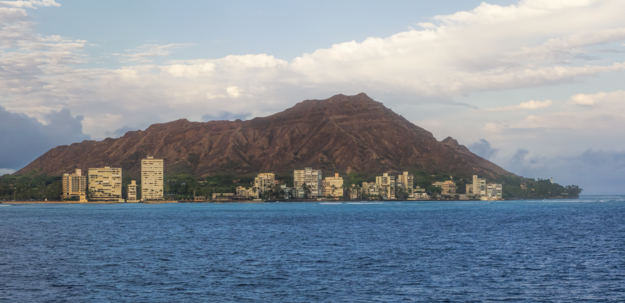 Diamond Head Crater from a Sunset Cruise
