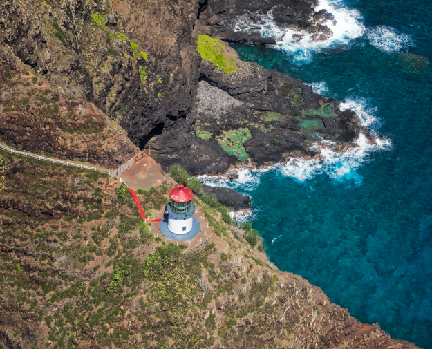Helicopter view of Makapu'u Point Light