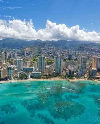 Waikiki Beach Helicopter View