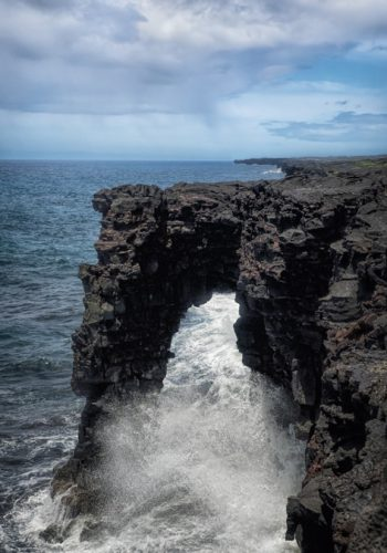 Waves Crashing in to the Holei Sea Arch, Volcanoes National Park